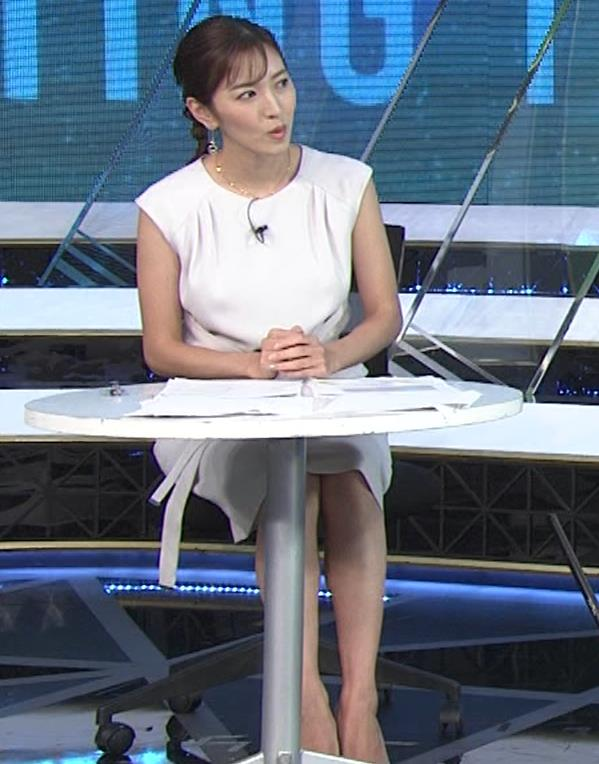 小澤陽子アナ 白いワンピースキャプ・エロ画像9