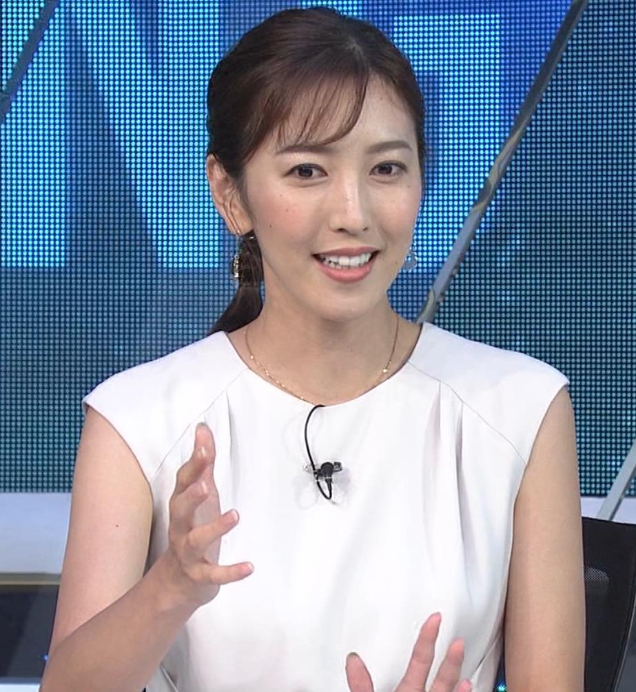 小澤陽子アナ 白いワンピースキャプ・エロ画像10