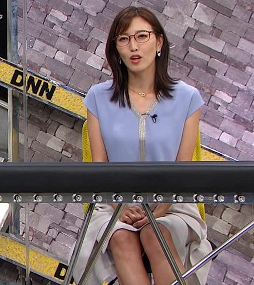 小澤陽子アナ ミニスカで座って脚がセクシーキャプ・エロ画像4