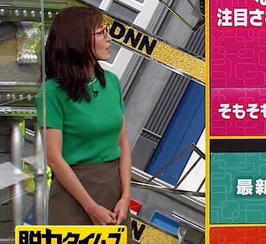 小澤陽子アナ デカい横乳キャプ・エロ画像