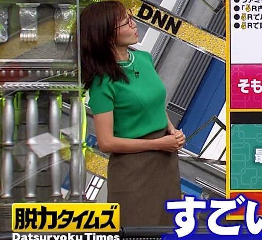 小澤陽子アナ デカい横乳キャプ・エロ画像2