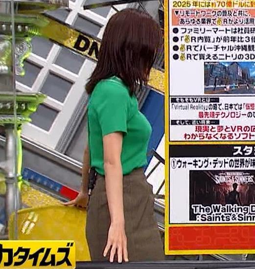 小澤陽子アナ デカい横乳キャプ・エロ画像6