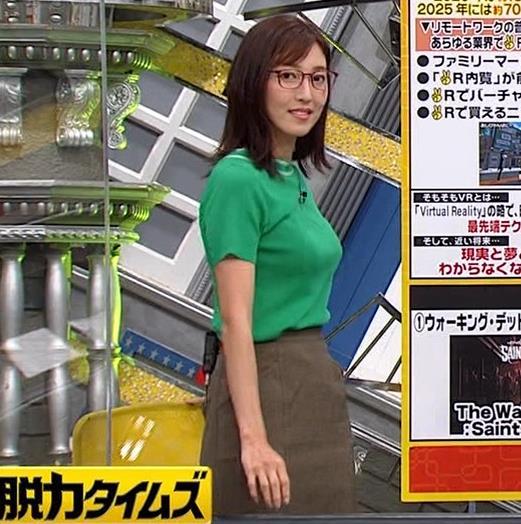 小澤陽子アナ デカい横乳キャプ・エロ画像7