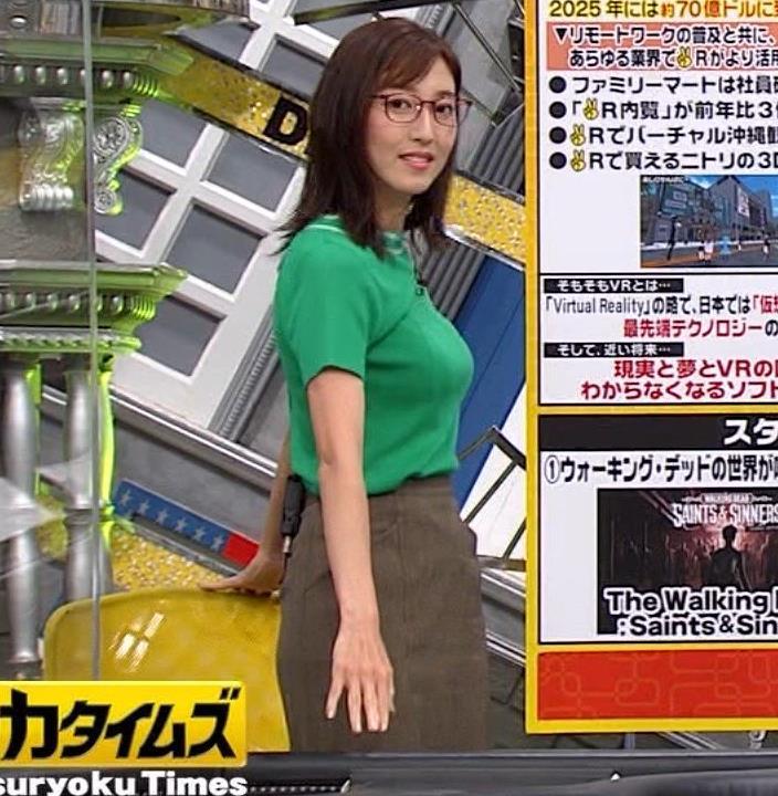 小澤陽子アナ デカい横乳キャプ・エロ画像8