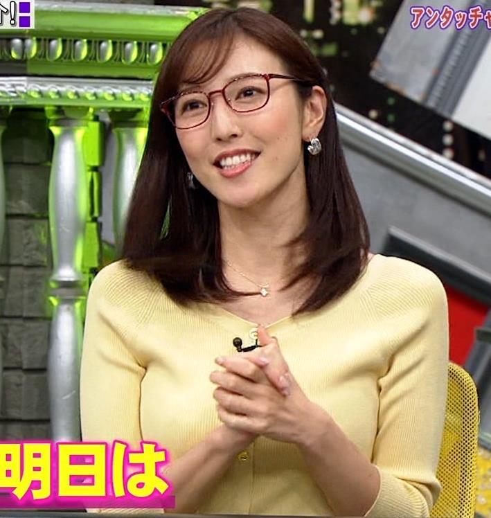小澤陽子アナ 緩い服でも巨乳が目立ってしまうキャプ・エロ画像4
