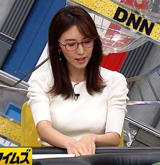 小澤陽子アナ タイトでエッチな衣装キャプ・エロ画像