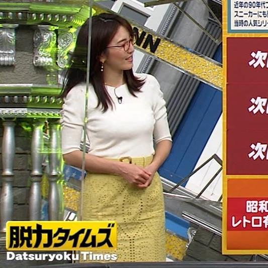 小澤陽子アナ タイトでエッチな衣装キャプ・エロ画像2
