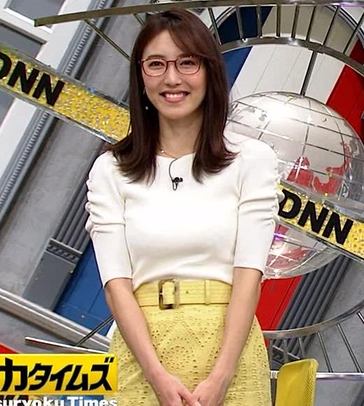 小澤陽子アナ タイトでエッチな衣装キャプ・エロ画像3