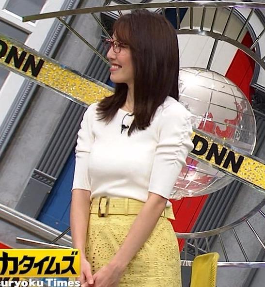 小澤陽子アナ タイトでエッチな衣装キャプ・エロ画像4