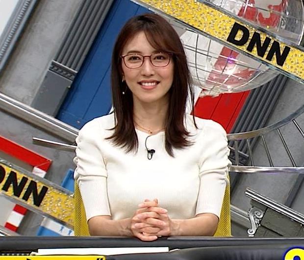 小澤陽子アナ タイトでエッチな衣装キャプ・エロ画像6