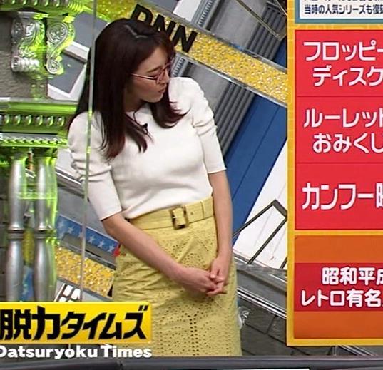 小澤陽子アナ タイトでエッチな衣装キャプ・エロ画像7