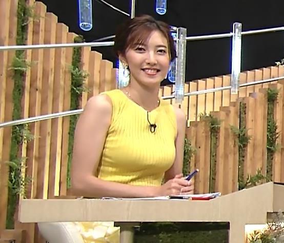 小澤陽子アナ 美人で巨乳がエロいノースリーブニットを着てくれるキャプ・エロ画像3