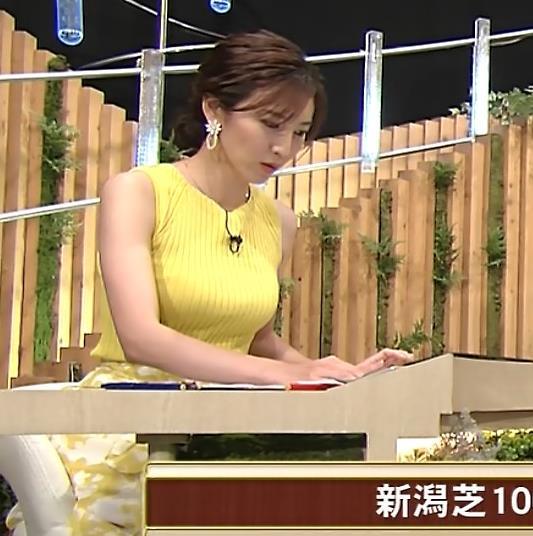 小澤陽子アナ 美人で巨乳がエロいノースリーブニットを着てくれるキャプ・エロ画像4