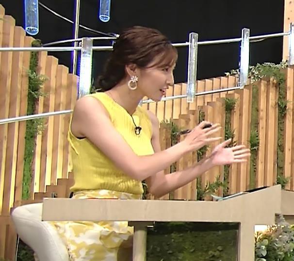 小澤陽子アナ 美人で巨乳がエロいノースリーブニットを着てくれるキャプ・エロ画像6