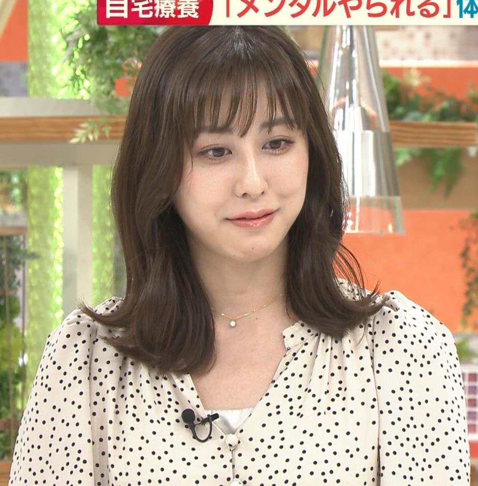 斎藤ちはるアナ コロナから復帰して胸元チラキャプ・エロ画像6