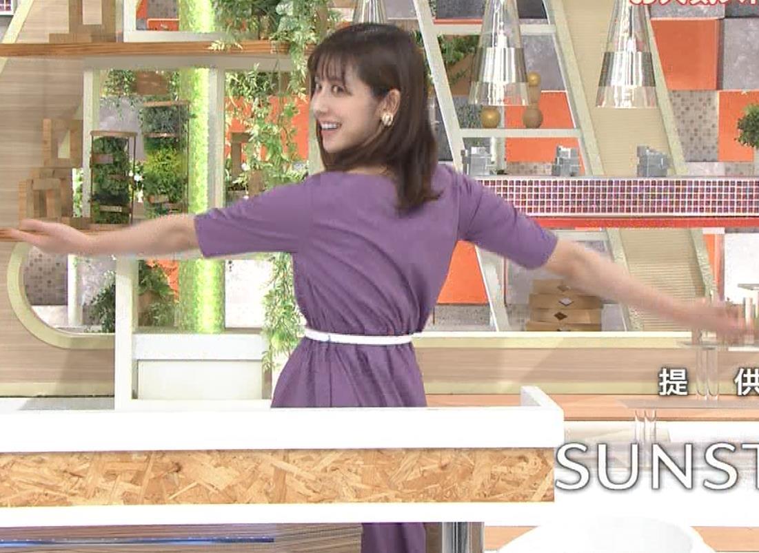 斎藤ちはるアナ ストレッチの横乳キャプ・エロ画像