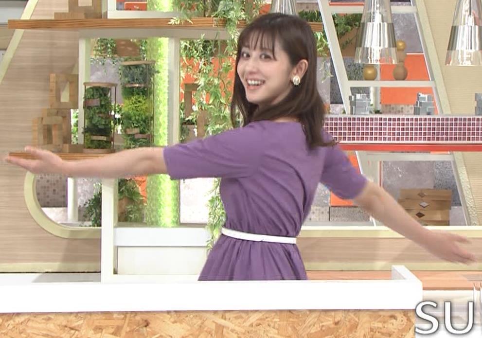 斎藤ちはるアナ ストレッチの横乳キャプ・エロ画像2