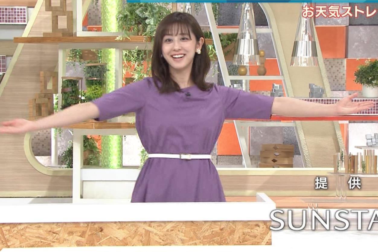 斎藤ちはるアナ ストレッチの横乳キャプ・エロ画像4