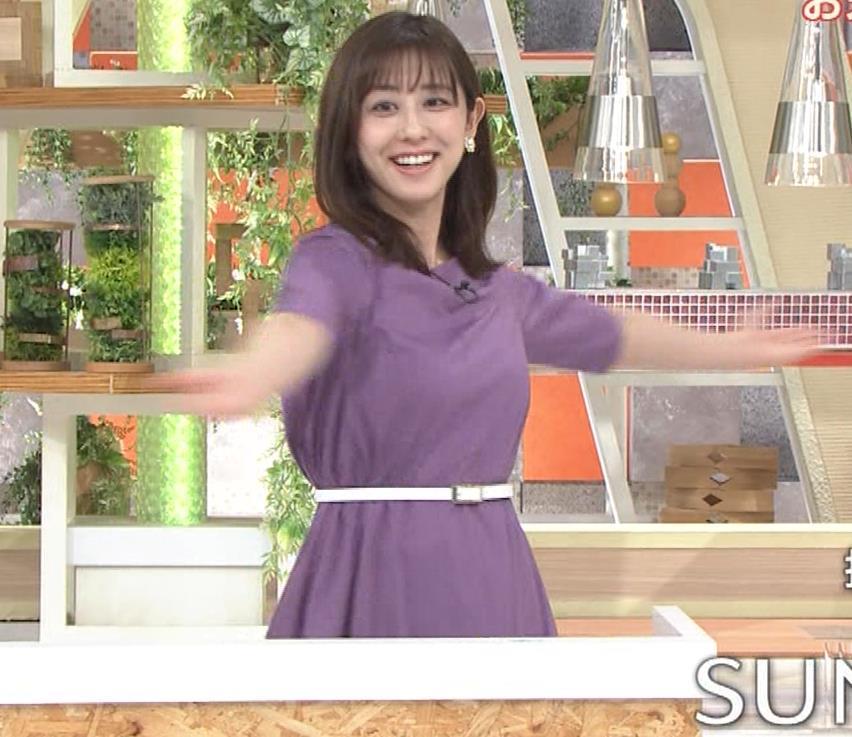 斎藤ちはるアナ ストレッチの横乳キャプ・エロ画像5
