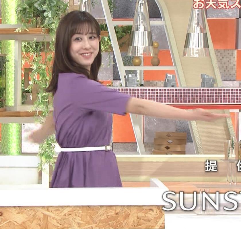 斎藤ちはるアナ ストレッチの横乳キャプ・エロ画像6