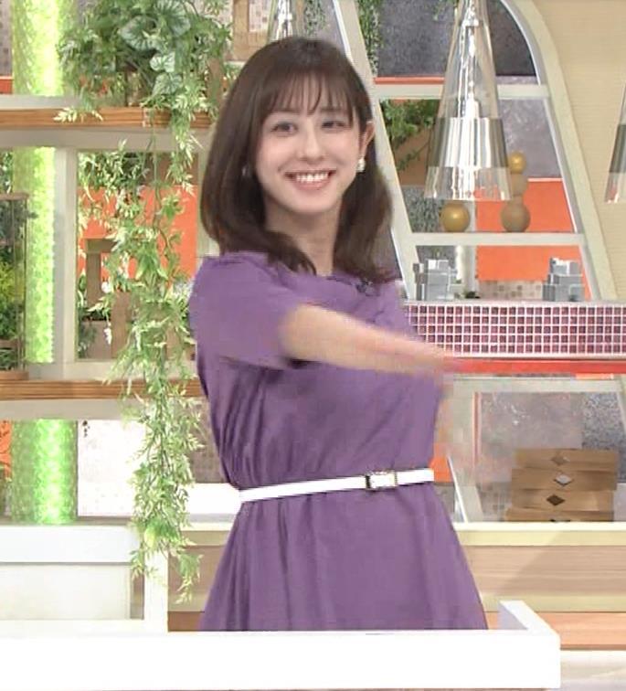 斎藤ちはるアナ ストレッチの横乳キャプ・エロ画像9