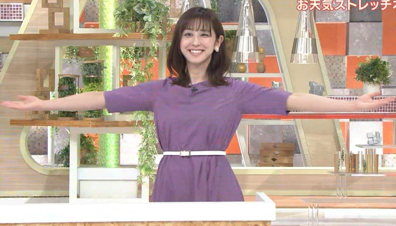 斎藤ちはるアナ ストレッチの横乳キャプ・エロ画像10