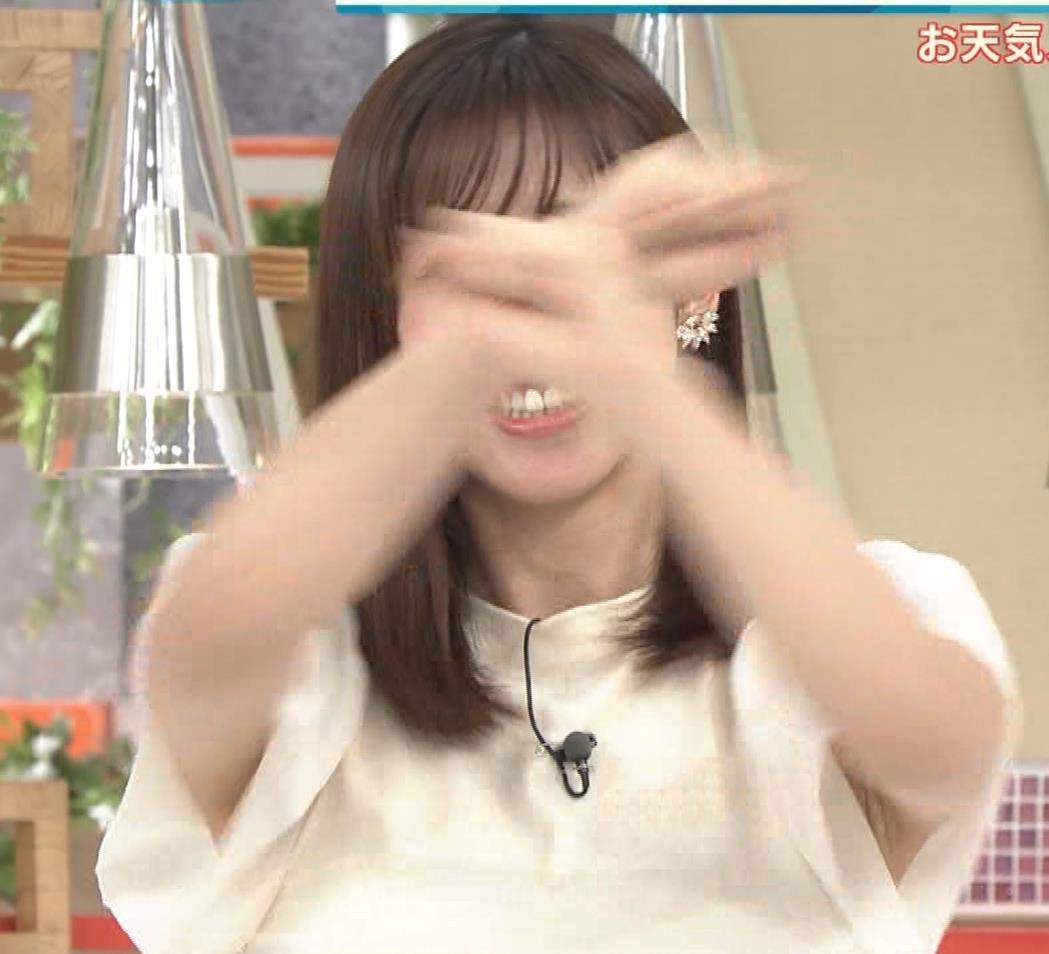 斎藤ちはるアナ ワキちらストレッチキャプ・エロ画像3