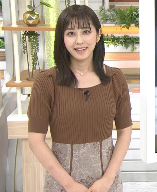 斎藤ちはるアナ ニットおっぱいキャプ・エロ画像3