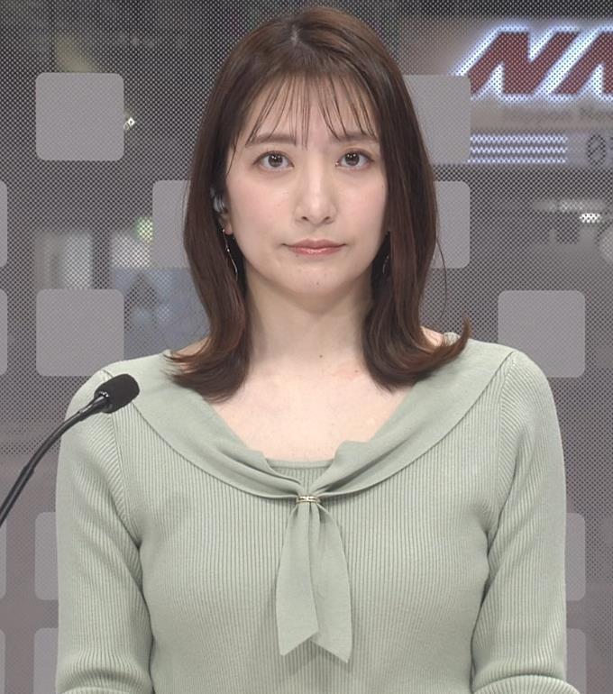 笹崎里菜アナ ニットおっぱいキャプ・エロ画像