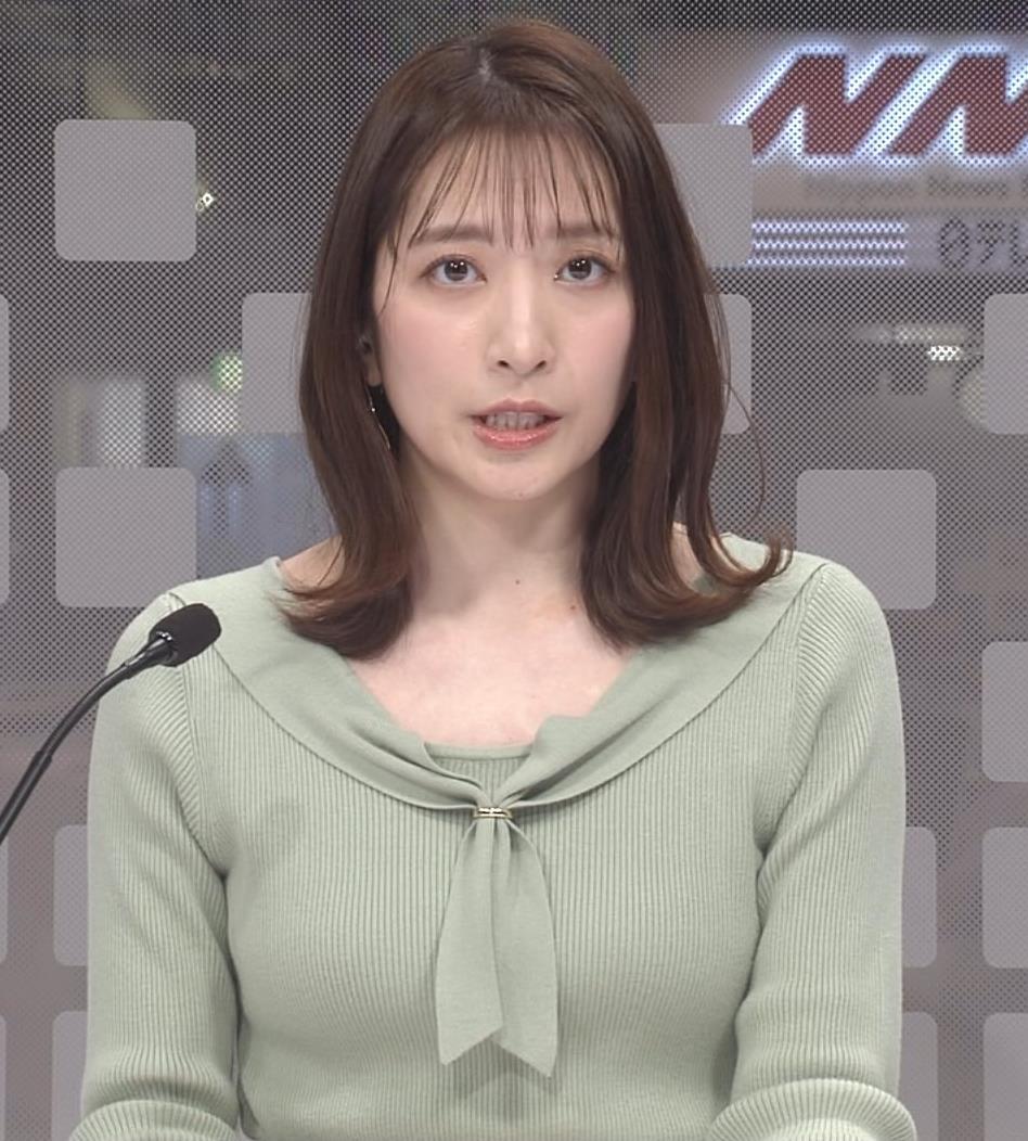 笹崎里菜アナ ニットおっぱいキャプ・エロ画像2