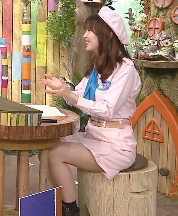 佐藤真知子アナ 生太ももキャプ・エロ画像2