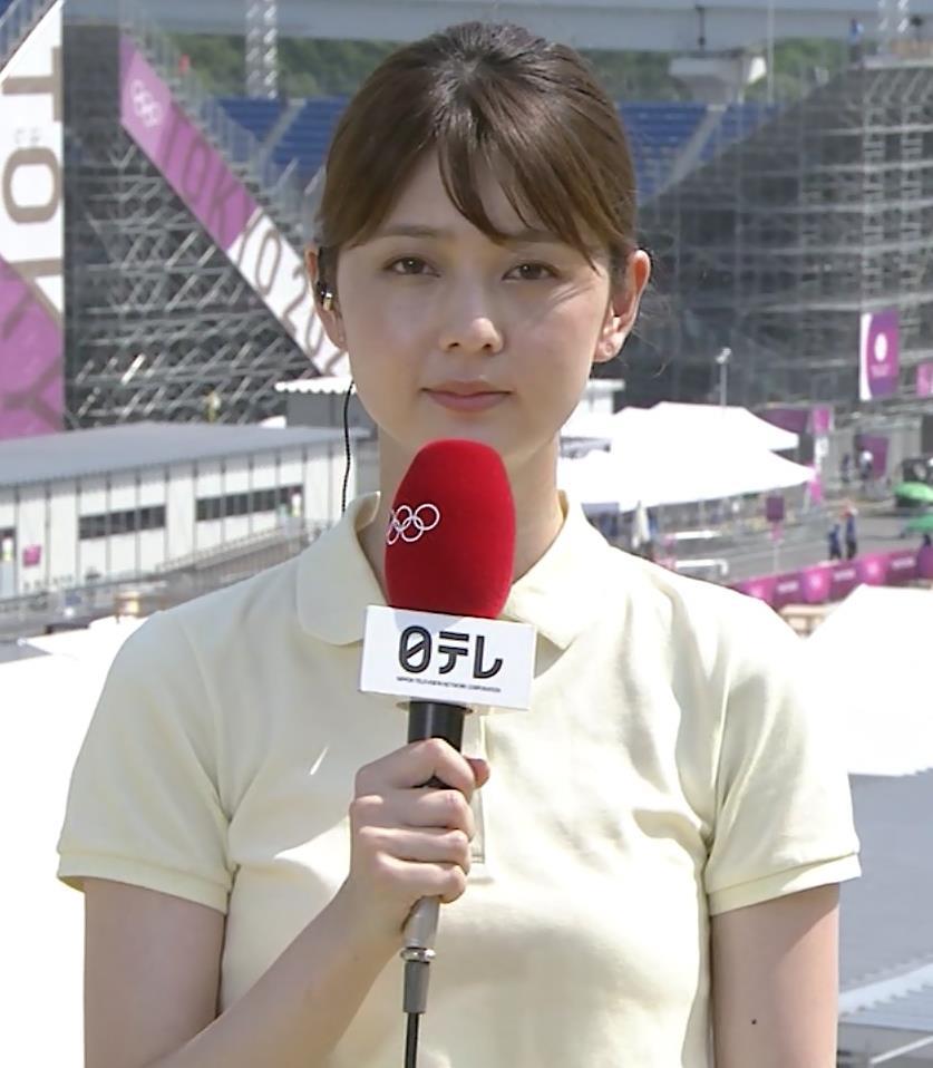 佐藤梨那アナ ポロシャツおっぱい、ピチピチなパンツスタイルキャプ・エロ画像7