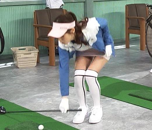 鷲見玲奈 エロいゴルフウェアでエロいコントキャプ・エロ画像7