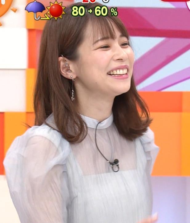 鈴木唯アナ 透け透け衣装キャプ・エロ画像2