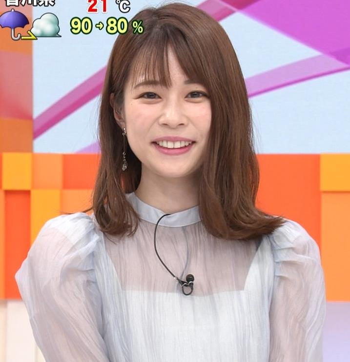鈴木唯アナ 透け透け衣装キャプ・エロ画像4