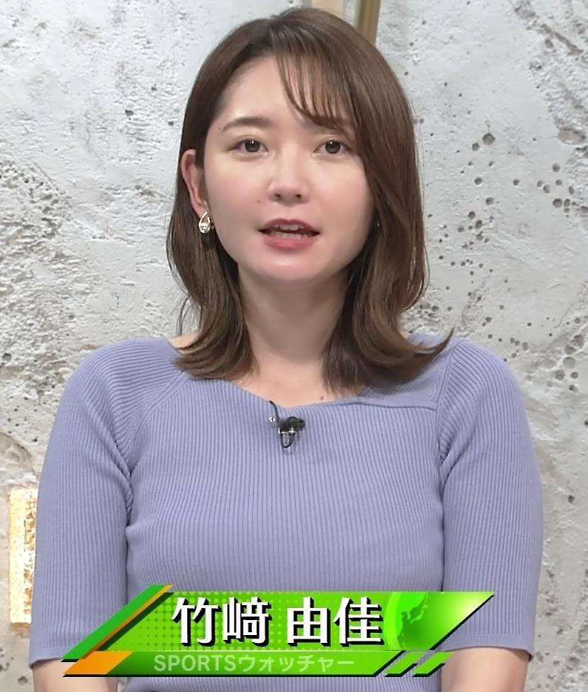 竹崎由佳アナ お辞儀のニットおっぱい♡がエロいキャプ・エロ画像2