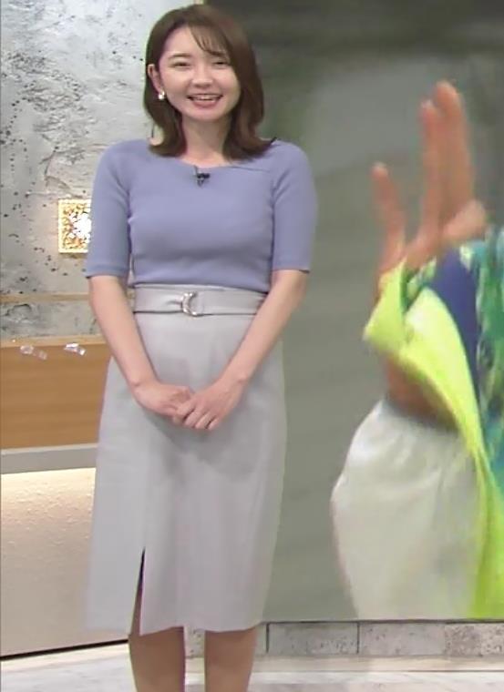 竹崎由佳アナ お辞儀のニットおっぱい♡がエロいキャプ・エロ画像3