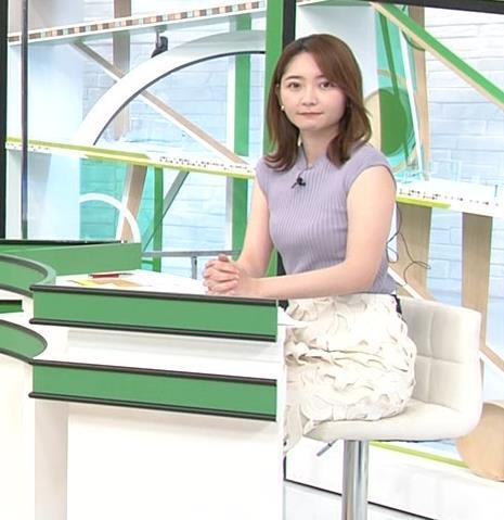 竹崎由佳アナ ノースリーブのエロいニットキャプ・エロ画像