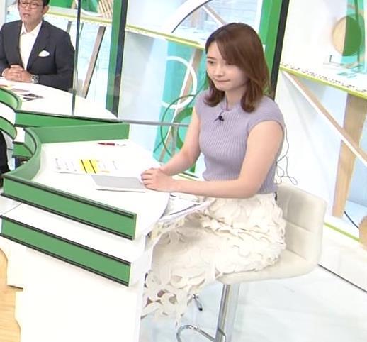 竹崎由佳アナ ノースリーブのエロいニットキャプ・エロ画像2