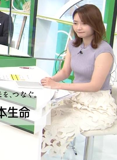 竹崎由佳アナ ノースリーブのエロいニットキャプ・エロ画像3