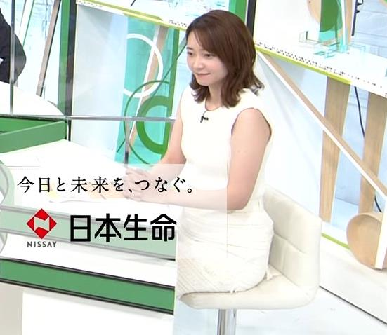 竹﨑由佳アナ ちょっとむっちりなノースリーブのニットキャプ・エロ画像2