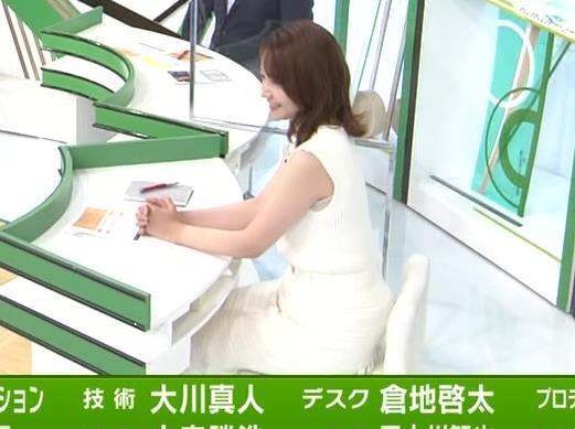 竹﨑由佳アナ ちょっとむっちりなノースリーブのニットキャプ・エロ画像4