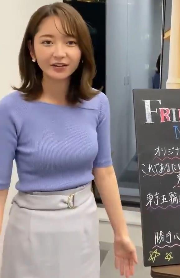 竹﨑由佳アナ テレ東公式Twitterが結構エロいキャプ・エロ画像12
