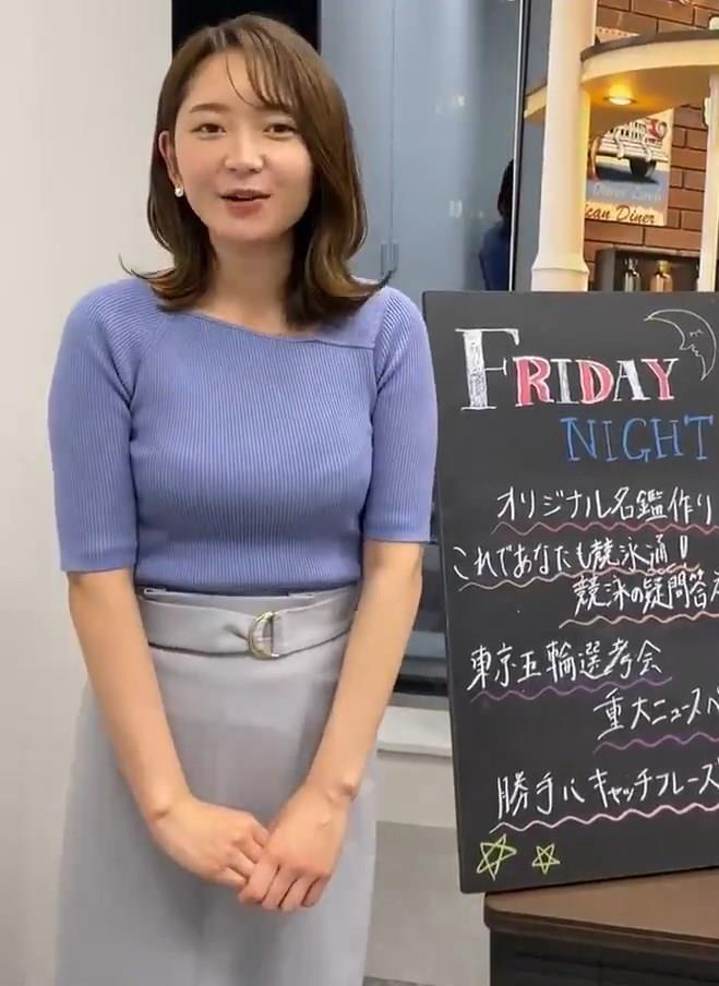 竹﨑由佳アナ テレ東公式Twitterが結構エロいキャプ・エロ画像4