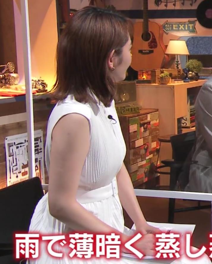 竹崎由佳アナ ちょっとむっちりノースリーブキャプ・エロ画像2