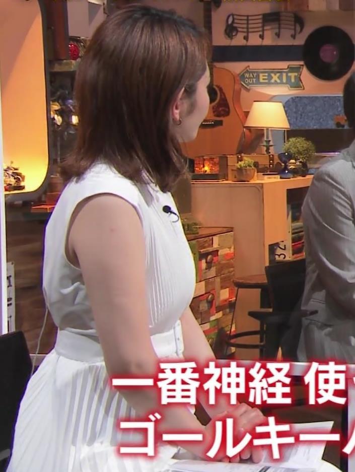 竹崎由佳アナ ちょっとむっちりノースリーブキャプ・エロ画像4