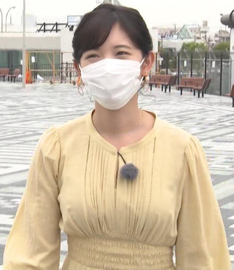 田中瞳アナ ワンピースの横乳キャプ・エロ画像11