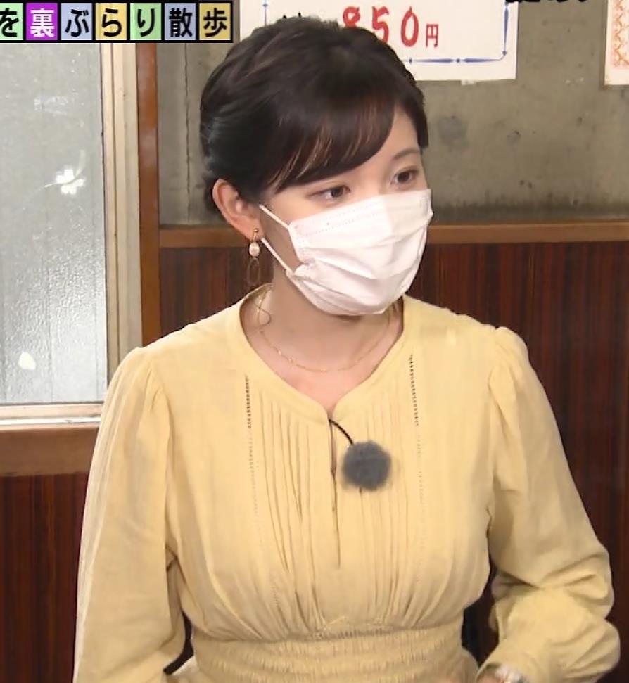 田中瞳アナ ワンピースの横乳キャプ・エロ画像12