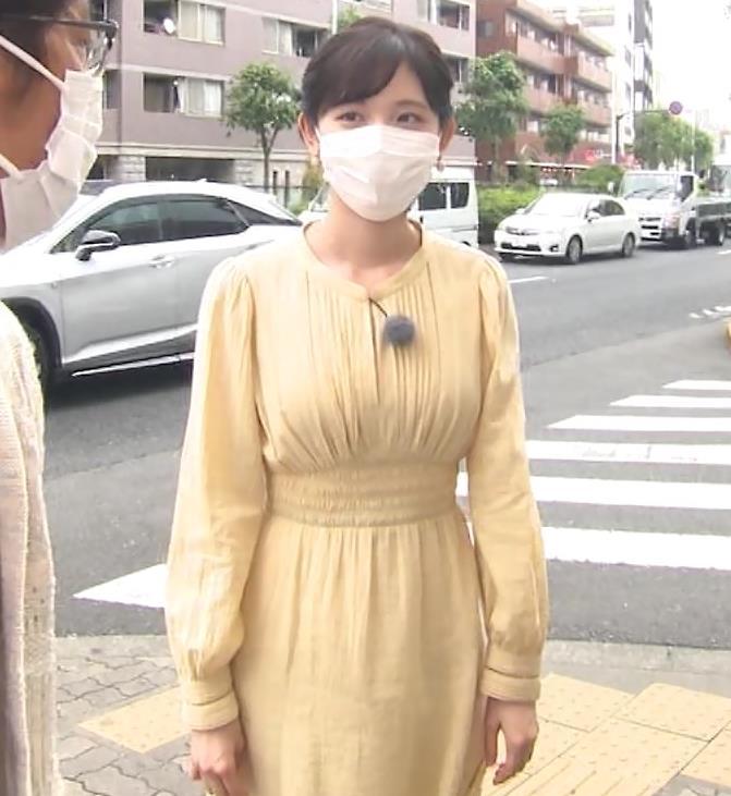 田中瞳アナ ワンピースの横乳キャプ・エロ画像4