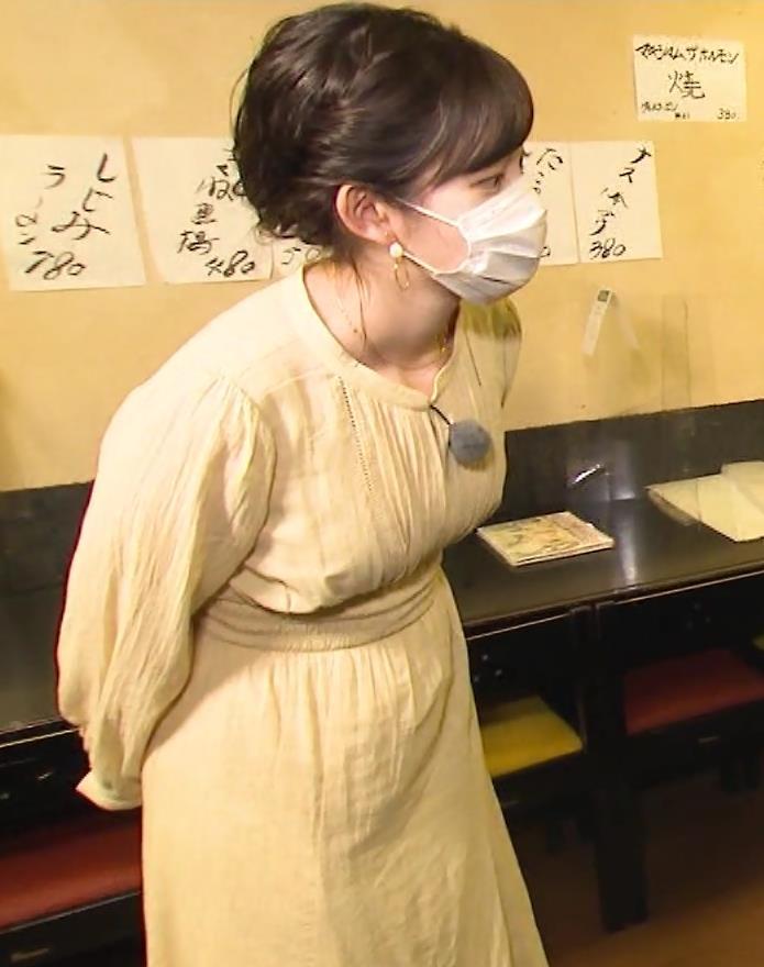田中瞳アナ ワンピースの横乳キャプ・エロ画像7